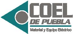 Venta de Material y Equipo Eléctrico en Puebla, México. COEL DE PUEBLA Logo